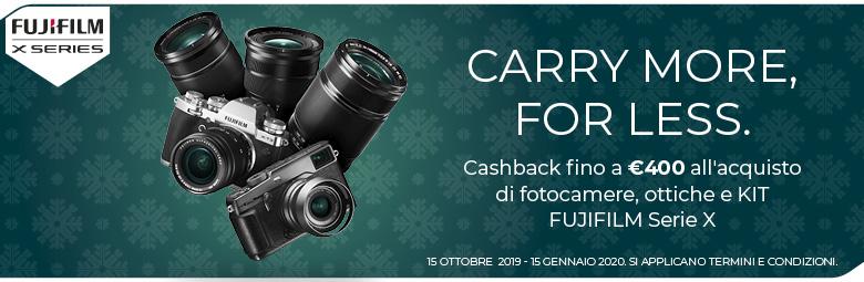 Fujifilm winter cashback serie X