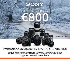 Cashback Sony fino a 800,00 euro di risparmio