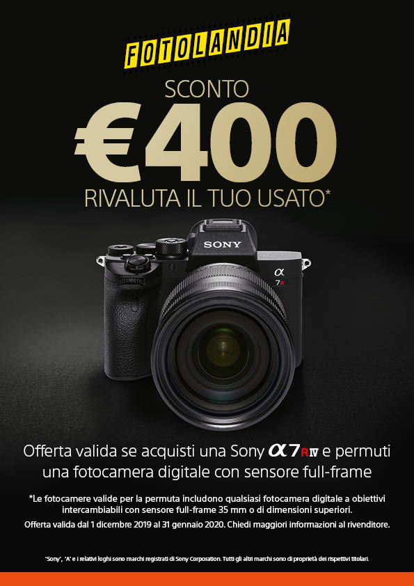 Sconto Sony A7RM4 di 400,00 euro