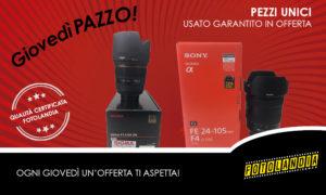 offerta giovedì pazzo 20 agosto Sony fe 24-105 f4 e Sigma 85mm f1,4