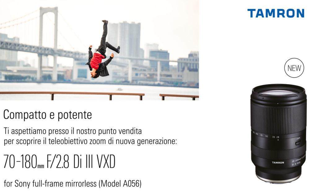 Nuovo obiettivo Tamron 70-180mm F2.8 Di III VXD per SONY E-Mount