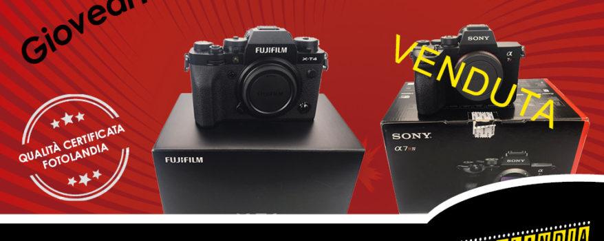 USATO DA URLO RADDOPPIA: Sony Alpha 7R IV e Fujifilm X-T4