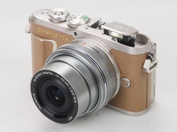 OLYMPUS E-PL9 silver/brown con 14-42mm EZ