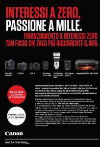 Canon: Interessi A Zero, Passione A Mille